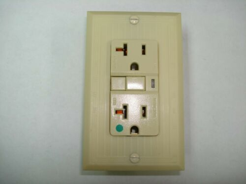 Vintage Uniline Ivory Decora GFCI Switch Outlet Wall Cover Plate GEM