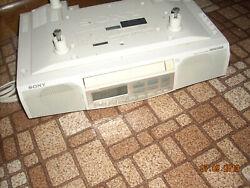 Sony ICF-CD513 Under Cabinet Stereo Clock Radio AM FM CD Player Mega Bass Works