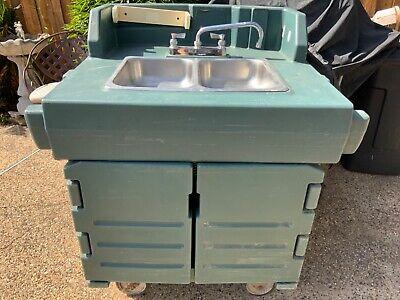 Cambro Green Camkiosk Portable Self-contained Hand Sink Cart Model Ksc402