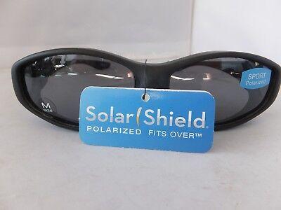 Solar Shield Sport Polarized Sunglasses Fits Over Glasses, Size Medium