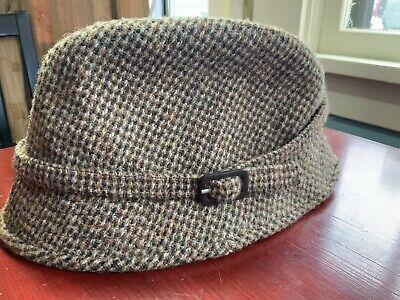 659e33ff136 Harris Tweed 7 1 8 Brown Herringbone Tweed Scotland Wool Bucket Grouse Hat