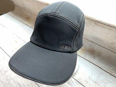 REI 5 Panel Lightweight Adjustable Running Hiking Cycle Black Hat Cap Strapback