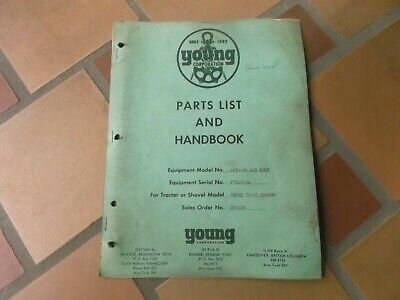 Young Lp54-94 Log Fork Parts Catalog Manual For Terex 72-41 Loader