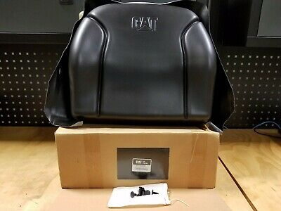 Genuine Cat Forklift Seat Back Cushion Kit Black - 9301400088 - New