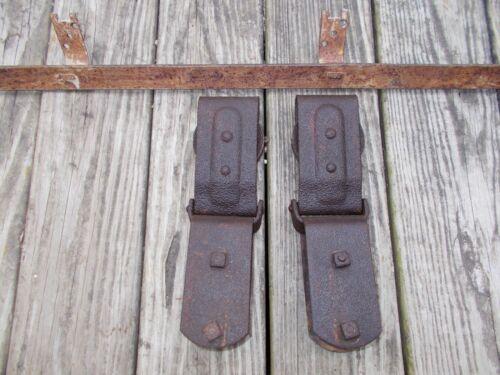 "Antique Vintage Barn Door Rollers & 72"" Ribbon Track"