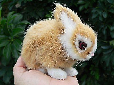 Bunny Rabbit miniature Furry Animal Baby *Ooak Fairy Pal Prop ArtDoll * Gift