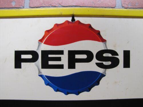 1960s SAY PEPSI PLEASE Sign Tin Chalkboard Diner Soda Fountain Stout Co USA