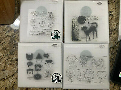 Halloween 50 Off (CTMH Close To My Heart Acrylix Stamps - 4 Sets, HALLOWEEN, NEW 50%)