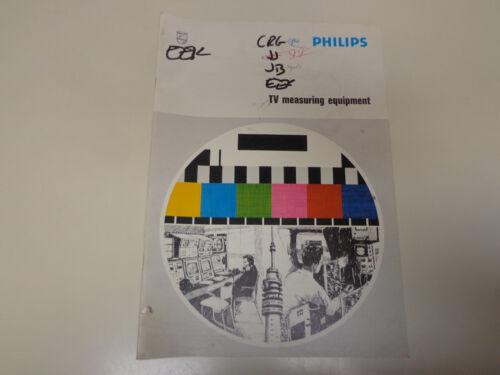 Philips TV Measuring Equipment Catalog 1970's Broadcast Television