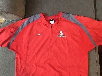 Stanford Ncaa Nike Mens Storm Fit Pullover 1 2 Zip Jacket Baseball Large