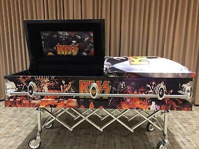 Kiss Kasket coffin casket rock band Gene Simmons Paul Peter -