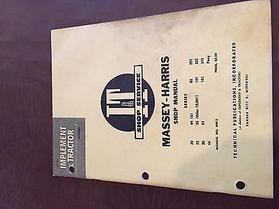 It Massey Harris Shop Tractor Service Manual 20 102 22 44 81 101 82 30 55