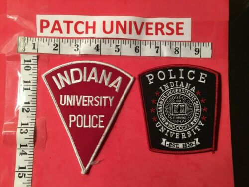 2 DIFFERENT  UNIVERSITY OF INDIANA  SHOULDER  PATCHES  C013