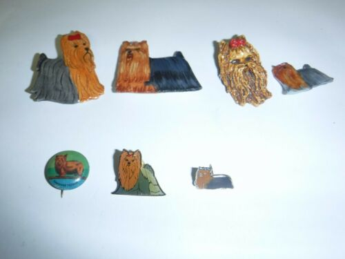 Yorkshire Terrier Yorkie Dog Brooch Pins Collection
