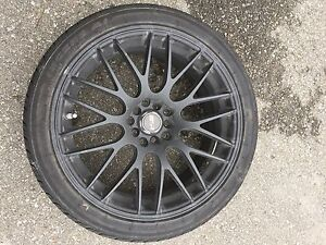 "18"" MSR rims universal with barely used tires"