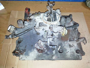 BUICK 350 INTAKE MANIFOLD WITH CARBURETOR - USED