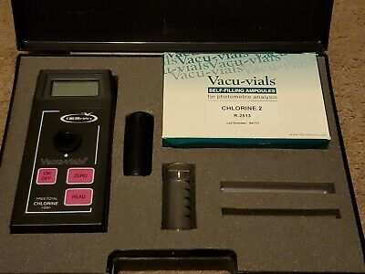 Chemetrics Chlorine Single Analyte Meter I-2001 With Vacu-vials R-2513 And Case