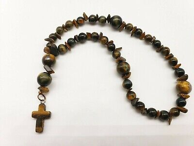 Catholic or Anglican Made to Order Cats Eye Rosary Choice of Colors