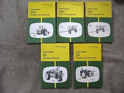 John Deere lot of 5 Integral Sprayer Operators manual