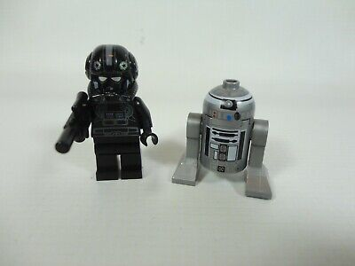 LEGO Star Wars Minifigures Imperial V-wing Pilot R2-Q2 Droid 7915 SW0303 SW0304