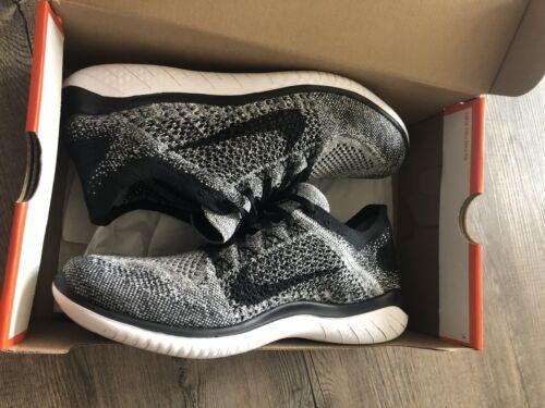 Nike Free RN Flyknit 2018 Oreo - Men s Size 9 Running Shoes- Black/White - $79.89