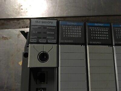 Allen Bradley Slc 500 503 Cpu Rs232 1746-a10 1747-l531