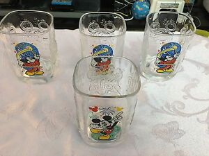 4 Disney McDonalds Collector Mugs