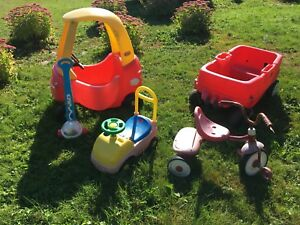 Wagon, Tricycle and Car