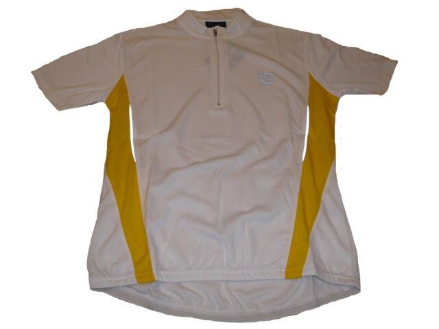 NEU 4 Sports Damen kurzarm Fahrrad Shirt Gr. M 40 / 42 weiß-gelb !!