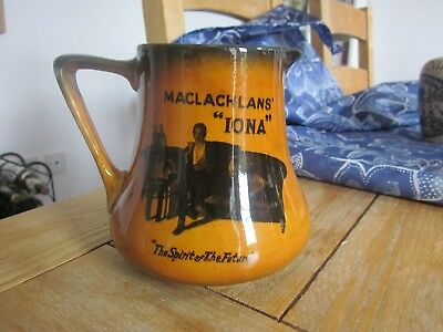 MACLACHLANS IONA SCOTCH WHISKY WATER STONEWARE JUG GLASGOW
