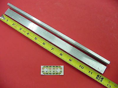 2 Pieces 14 X 34 Aluminum 6061 Flat Bar 12 Long Solid T6511 .25 Mill Stock