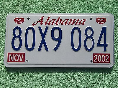 80X9 084 = NOS 2002 Alabama Heart of Dixie license plate    Letters Bird House