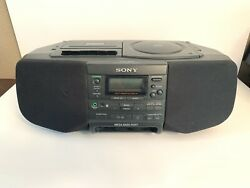 SONY Radio Cassette CD Player CFD-S33 Boom box Alarm Clock Display