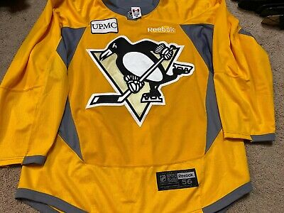 PITTSBURGH PENGUINS Yellow Reebok 2.0 PRO stock Practice Issued Jersey 56 NEW