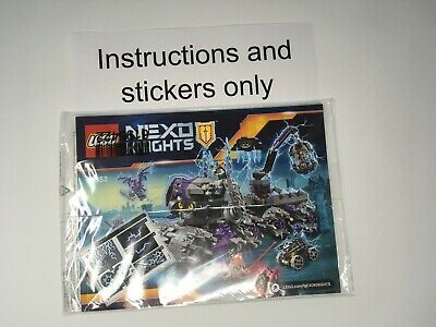 ONLY Instructions and stickers NIP Lego 70352 Nexo Knights Jestro's Headquarters