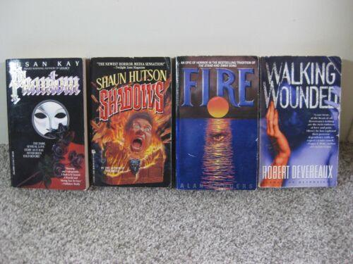Lot 4 Vintage Horror Novels Phantom Shadows Fire Walking Wounded Paperback