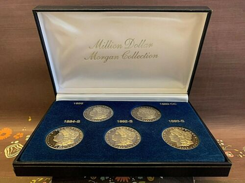 The Million Dollar Tribute Set of 5 Coins Morgan Collection