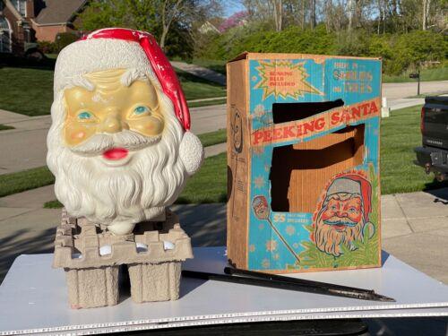 Christmas Blow Mold - VINTAGE - PEEKING SANTA - Empire - Boxed - RARE