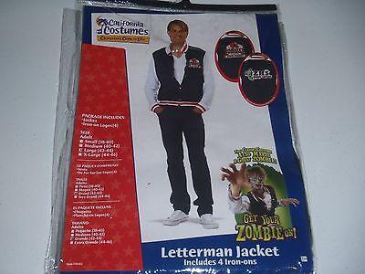 Varsity Letterman Jacket High School Jock Adult Halloween Costume Zombie Medium - Halloween Costume Letterman Jacket