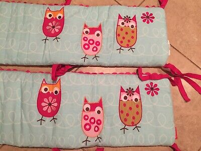 RARE crib set -New w/ no tags Kids Line Zutano Owl 4 Piece All Around Bumper Set Around Crib Bumper