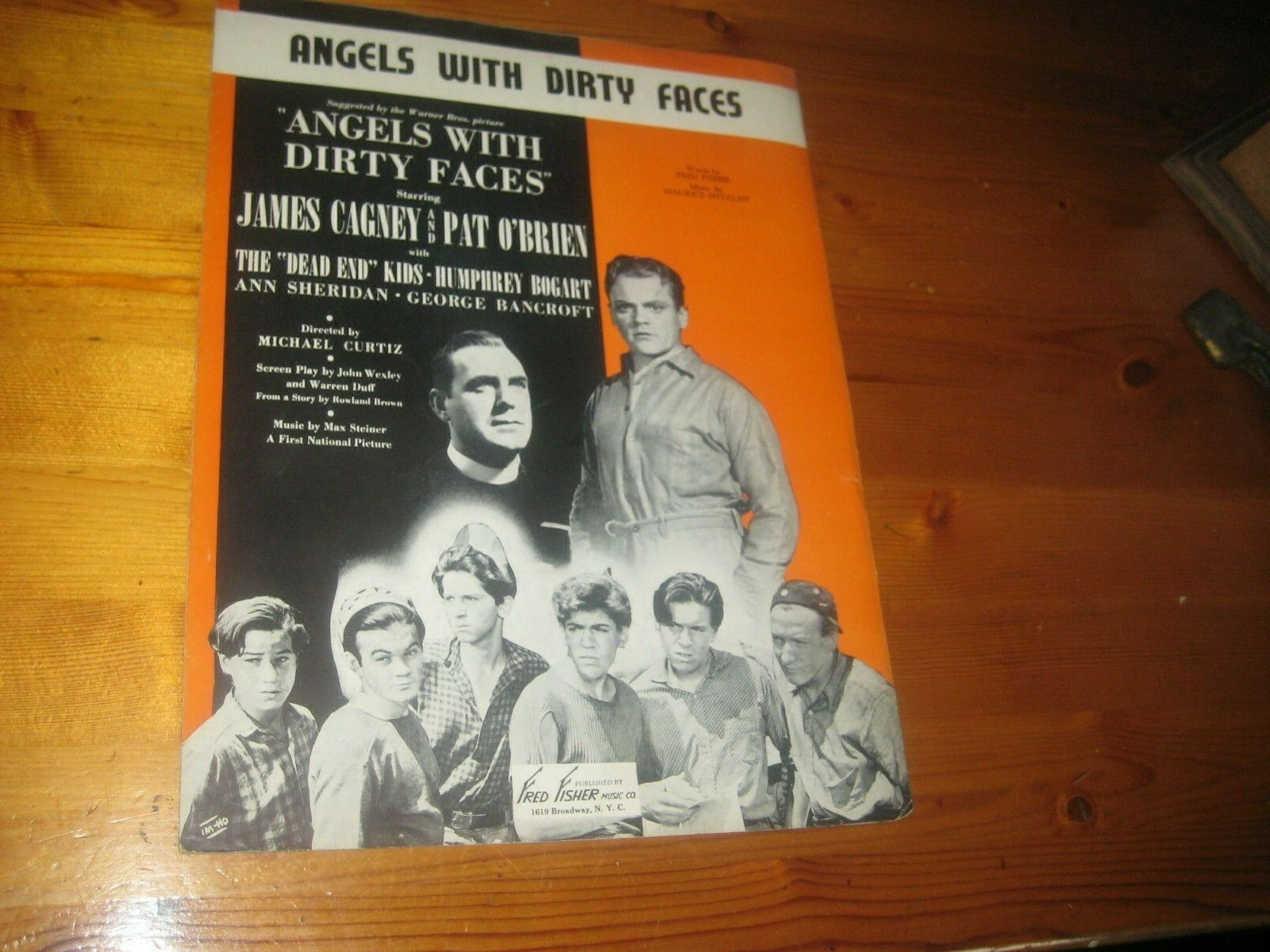 Angels With Dirty Faces Vintage Sheet Music, Dead End Kids - $25.00