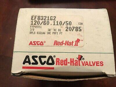 Asco Red-hat Ef8321g2 Brass 38 Three Way 3-way Solenoid Valve 24dc New