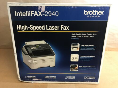 Brother Black-and-White All-In-One Printer Gray FAX-2940