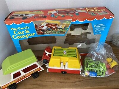 Complete Family Car & Camper Fisher Price Little People #992  1980 w/ box sealed
