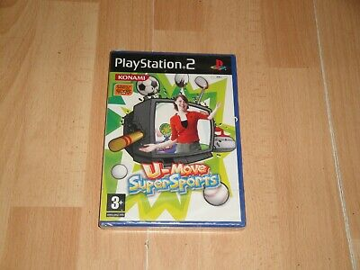 U-MOVE SUPER SPORTS DE KONAMI SONY PS2 NECESARIA CAMARA EYE TOY NUEVO...