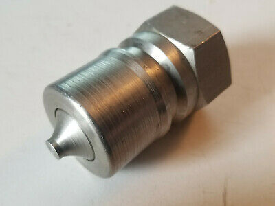 """New Foster 3/4"""" npt Valved Stainless Quick Disconnect Coupling Plug, K6S/S"""
