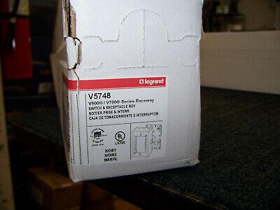 Wiremold Legrand Switch Receptacle Box Ivory V500v700 Series 10 Ea V5748