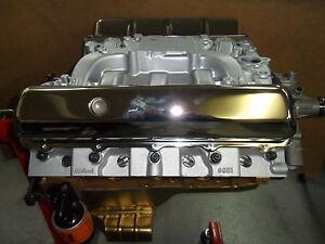 455 oldsmobile complete performance engine aluminum heads intake oil pan olds. Black Bedroom Furniture Sets. Home Design Ideas