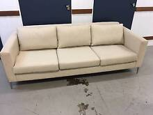 Matt Blatt - 3 Seater Couch, beige. Marrickville Marrickville Area Preview