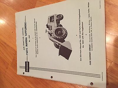 Clark Michigan Shovel Tractor 35b Wheel Loader Parts Manual